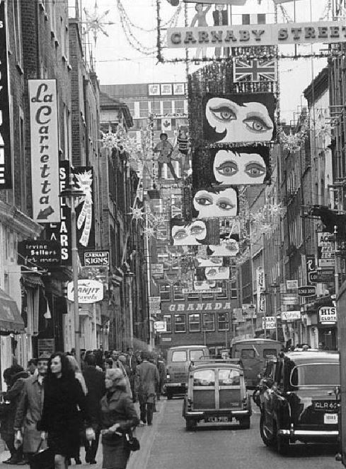 Old photo of Carnaby Street